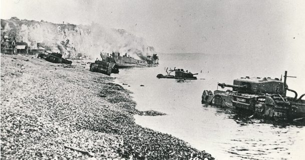 Dieppe 75, King's Own, KOCR, tank, armour, RCAC