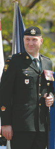 Regimental Sergeant Major, Master Warrant Officer Troy MacGillivray